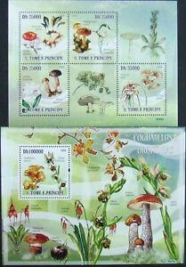 Sao-Tome-amp-Principe-Mushrooms-and-Orhydeas-1M-Sh-1S-Sh-MNH-STP-49
