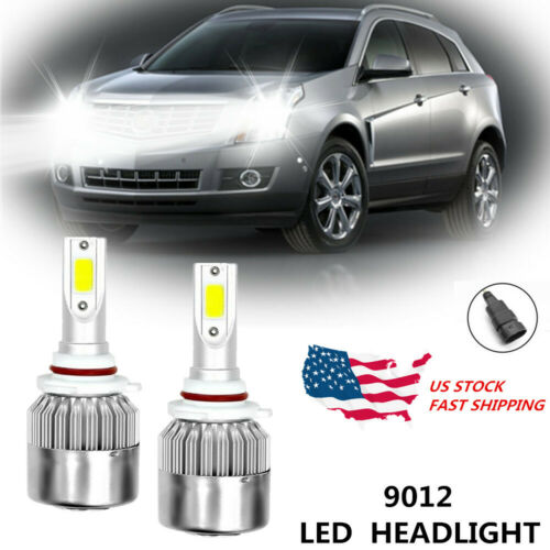 9012 LED Headlight Bulbs for Cadillac XT5 2017-2018 Extremely Bright White 100W