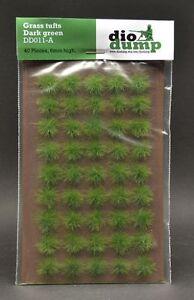 DioDump-DD011-A-6mm-realistic-grass-tufts-DARK-GREEN-45-pcs-diorama-scenery