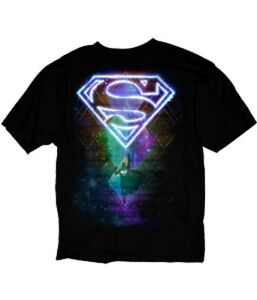 DC-SUPERMAN-SPACE-ABSTRACT-SYMBOL-LOGO-BLACK-Adult-Licensed-T-Shirt-S-3XL