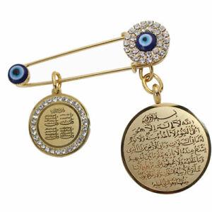 Islam-muslim-AYATUL-KURSI-turkish-evil-eye-Allah-four-Qul-suras-brooch-Baby-Pin
