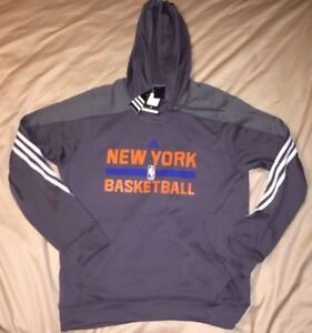 b9d35002d Image is loading New-York-Knicks-Basketball-Adidas-Hoodie-Size-Large