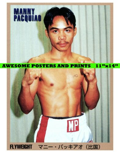 11x14 REPRINT 1999 Japan World Boxing Magazine Card POSTER Manny Pacquiao