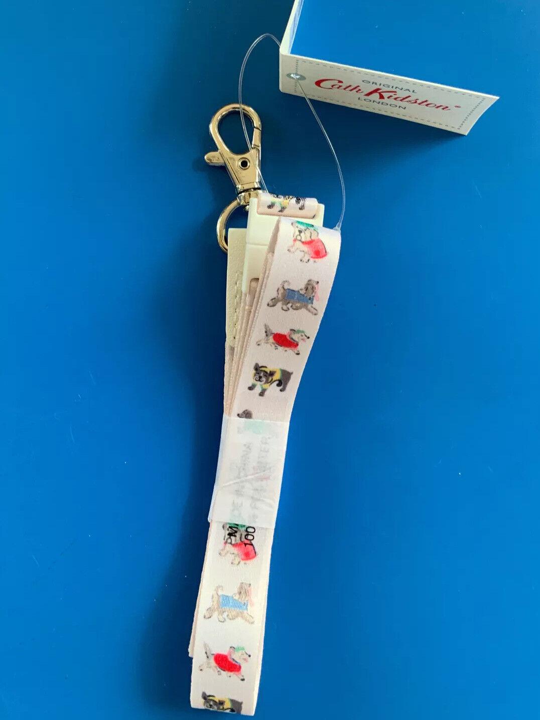 Cath Kidston Cute Park Dogs Warm Cream Lanyard ID Badge Holder-New