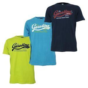Maglia T-Shirt Uomo NAZARENO GABRIELLI NAZHP11 con Stampa Girocollo Blu Lime