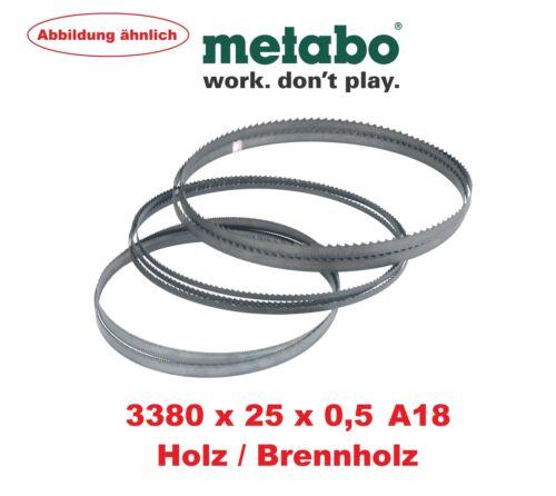 Metabo Bandsägeblatt 3380x25x0,5mm A18 Brennholz Holz BAS 450 500 505 600 W D