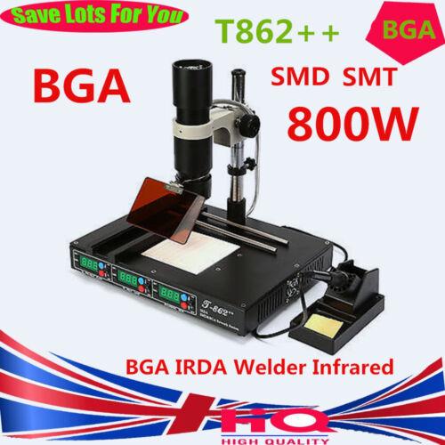 T862++ BGA Infrared Irda Welder Rework SMD SMT Desoldering Reballing Station UK