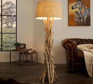 Stehlampe Treibholz Stehleuchte DRIFTWOOD 155cm sand Design ...