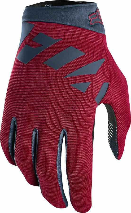 Fox Racing Ranger dedos Completos Guantes de Bicicleta de montaña para hombre grandes Cochedenal Rojo Azul