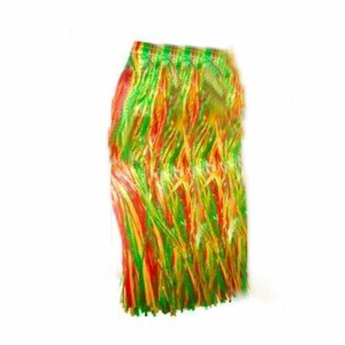 Hawaiian Hula Skirt Full Length Multicoloured Adult  Costume waist 89 x80 long