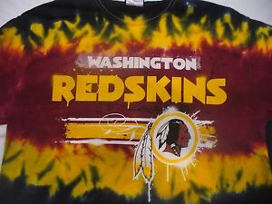 63395400383c Image is loading WASHINGTON-REDSKINS-039-HORIZONTAL-STENCIL-039-Tie-Dye-