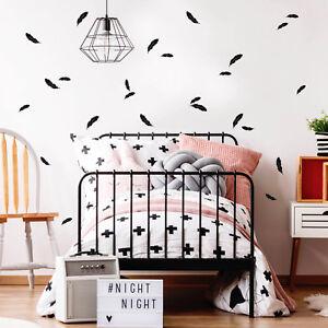 Pegatina-Pared-Decoracion-Pluma-Set-12348-dormitorio-infantil
