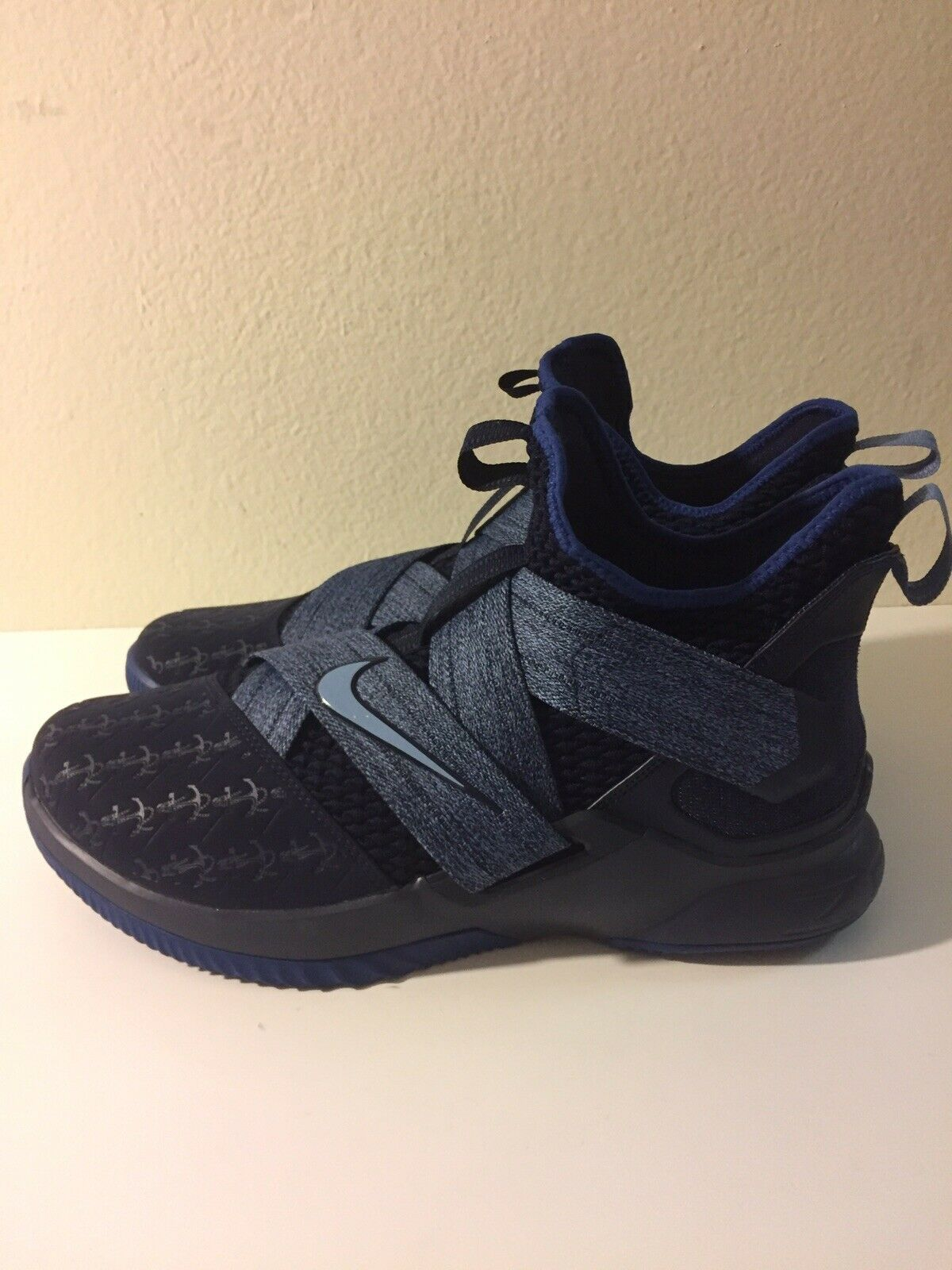 NIKE LEBRON SOLDIER XII MENS SHOE'S [SIZE 11.5] BLACKENED blueeE AO2609-401