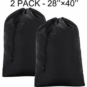 Details About 2 Pack Extra Large Laundry Bag 28 40 Washable Rip Stop Material Black