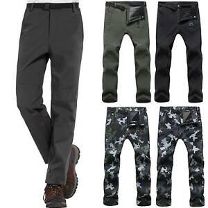 Men Thick Polar Termico Pantalones Tacticos Senderismo Viaje Al Aire Libre Pantalones Largos Ebay