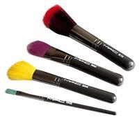 Box Mac Cosmetics Cinematic Eyes Cheeks Colorful Makeup Brushes Set