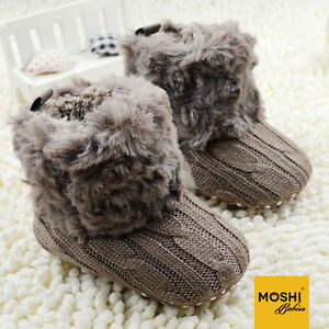 Woollen-Knit-Crochet-baby-winter-boots-with-fur-trim-pink-brown-by-Moshi-Babies