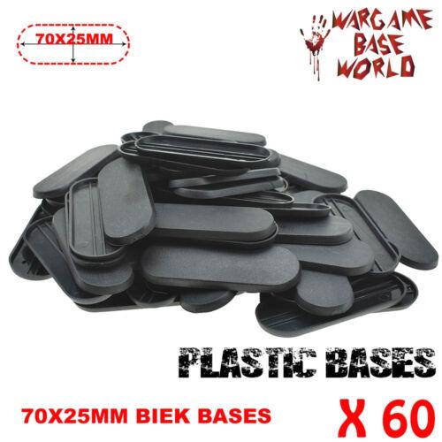 60pcs 70x25mm Table Games Bits for wargames Bike Gaming Miniatures Plasic Base