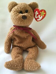 c1f96667ead Curly Bear Collectible Ty Beanie Baby Brown 1996 1993 Multiple ...