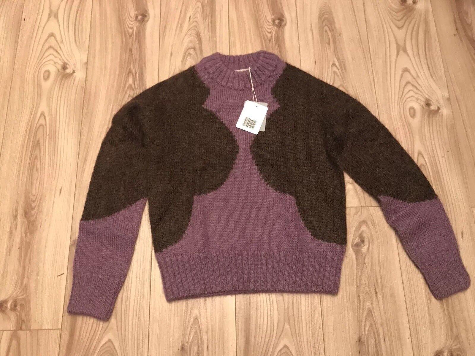 Orla Kiely Giant Flower Sweater Jumper Purple purplec Large  Coat Dress Blouse Top
