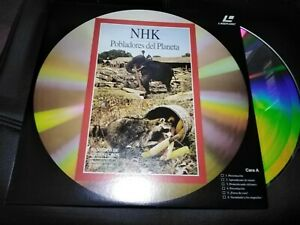 Nhk-Siedler-Del-Planeta-Laser-Disc-der-Elefant-Y-Los-Banditen-Aus-Augen-Schwarz