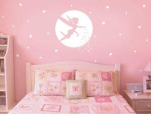 Analytique Fairy Wall Stickers, Fairy Wall Art, Fairy Wall Decals, Nursery Wall Decor-afficher Le Titre D'origine BéNéFique à La Moelle Essentielle