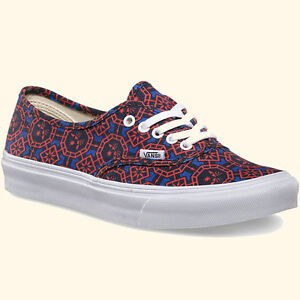 a9cab7bb14 Image is loading VANS-AUTHENTIC-SLIM-GEOMETRIC-DAZZLING-BLUE-WHITE-MENS-