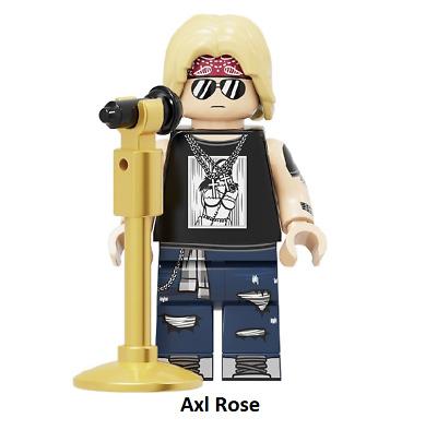 AXL ROSE Custom Carded Minifigure Display Mini-Figure Guns n Roses GNR