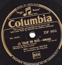 Lucienne Boyer + Orchester Iza Volpin : Le train du rêve + La Belle