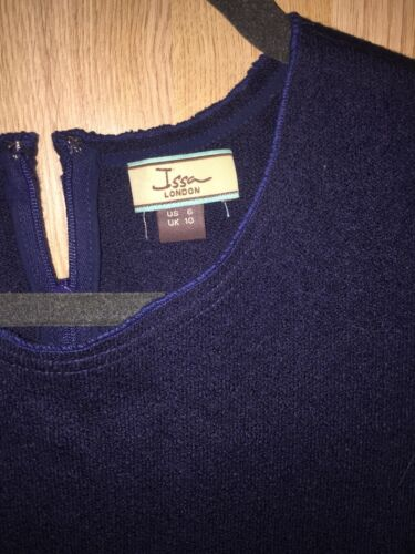 Stretch Issa London Dress Knit Navy Uk10 w1pqz1xE