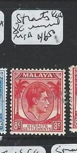 MALAYA STRAITS SETTLEMENTS (P1203BB) KGVI 8C UNISSUED MNH