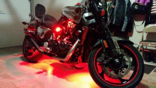 For Yamaha Four RED LED PODS Lights Rock Light ATV UTV