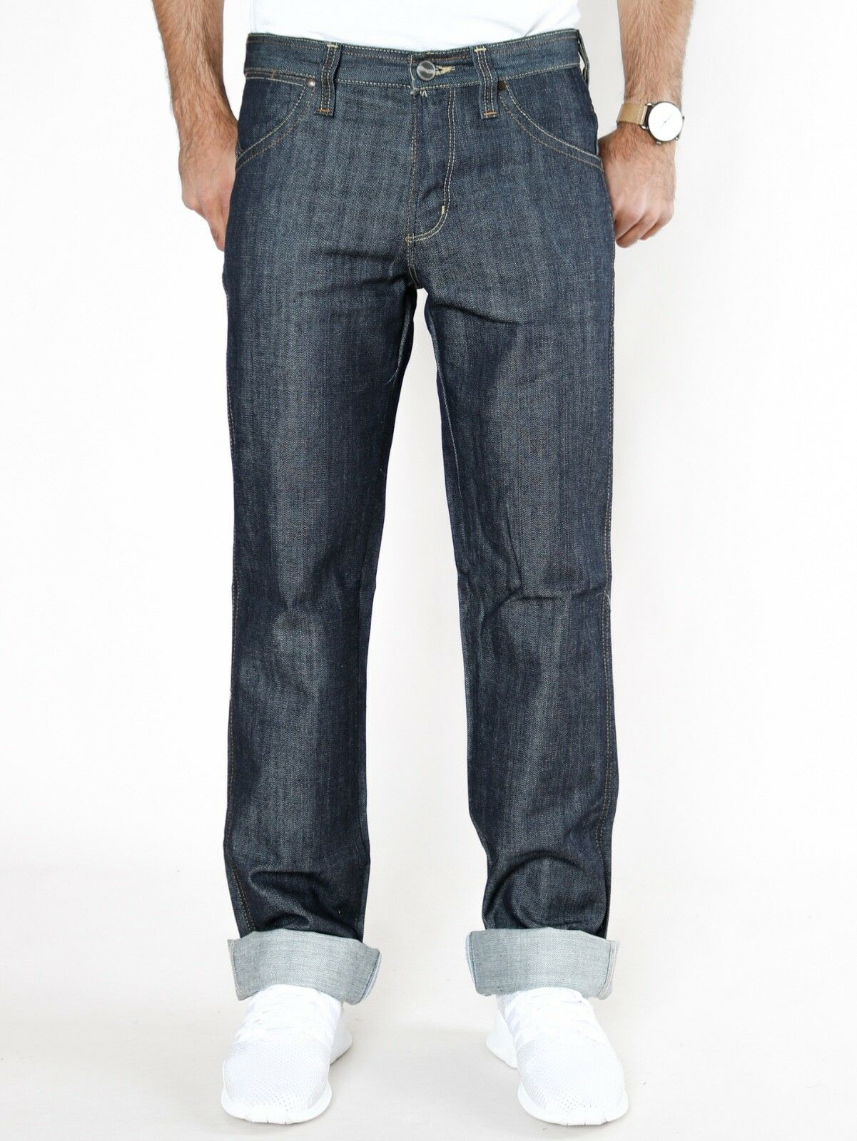 WRANGLER Uomo Jeans-Pantaloni Sly-Straight Leg Slim Slim Slim Fit-Indigo-Blu w31 l34 NUOVO 680174