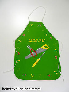 Enfants tablier gril tablier oeuvres tablier bastelschürze Hobby vert  </span>