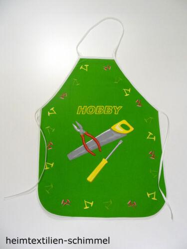 Enfants tablier gril tablier oeuvres tablier bastelschürze Hobby vert