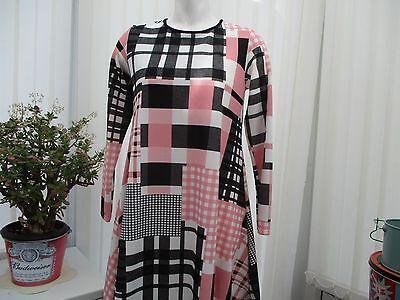 """""""miss Look"""" Donna Piccolo Bianco Nero E Rosa Vestito Sz 8/10 B.n.w.t.-mostra Il Titolo Originale Regalo Ideale Per Tutte Le Occasioni"""