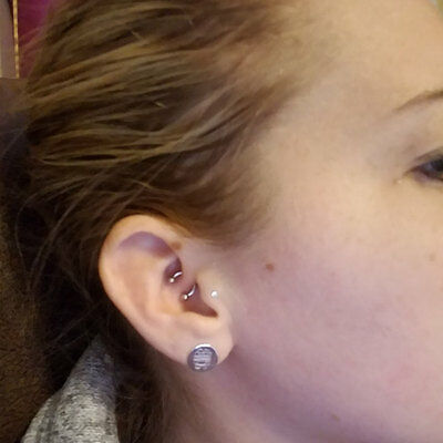 Daith Piercing 16g 6mm U shaped Ring Daith Jewelry Body ...