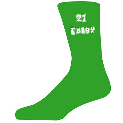 21 Today on Green Socks, Great 21st Birthday Gift