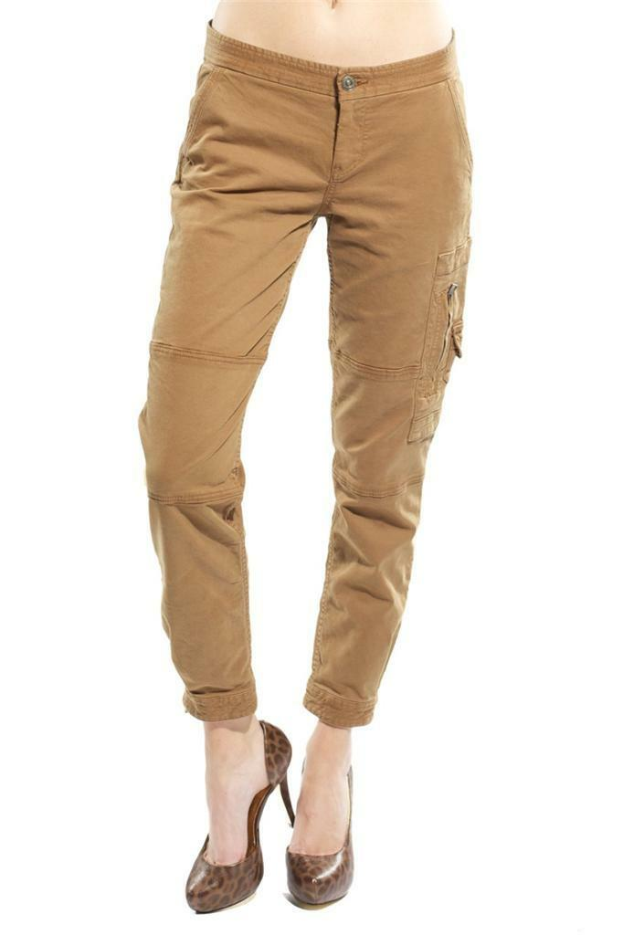 7 For All Mankind Cropped Maggee Pant Jean Ginger AN6221981 cut 900404 Toffee