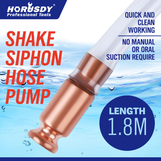 Syphon Jiggler Hose Pump Copper Attachment Self Priming 18mm 1.8M Petrol Liquid