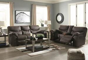 Motion-Living-Room-Brown-Microfiber-Reclining-2-piece-Sofa-amp-Loveseat-Set-IF1F
