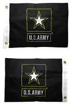 """12x18 Port Captain Blue 12/""""x18/"""" Double Sided Nylon Embroidered Flag Grommets"""