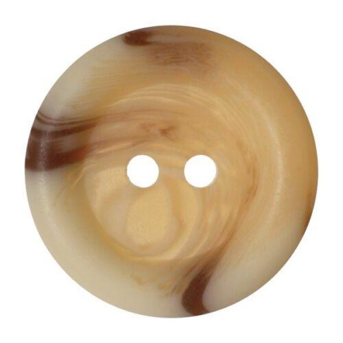 Lot de 6 hemline marbré bois grain effet 2 trous sew par boutons 15mm