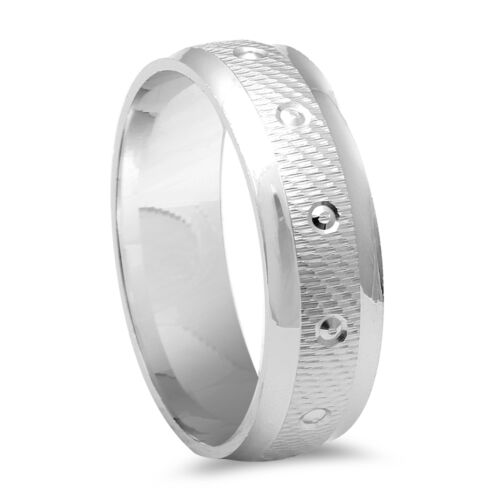 MEN/'S FANCY DESIGNER DIAMOND CUT WEDDING BAND.925 Sterling Silver Ring SIZE 9-12