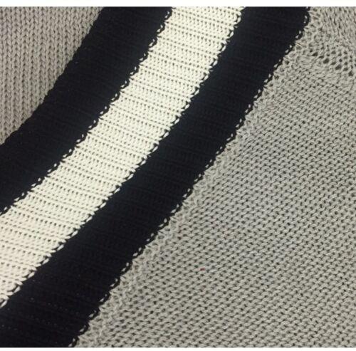 Women/'s Plus Size Striped-Trim V-Neck Thin Knit Sweater NEW
