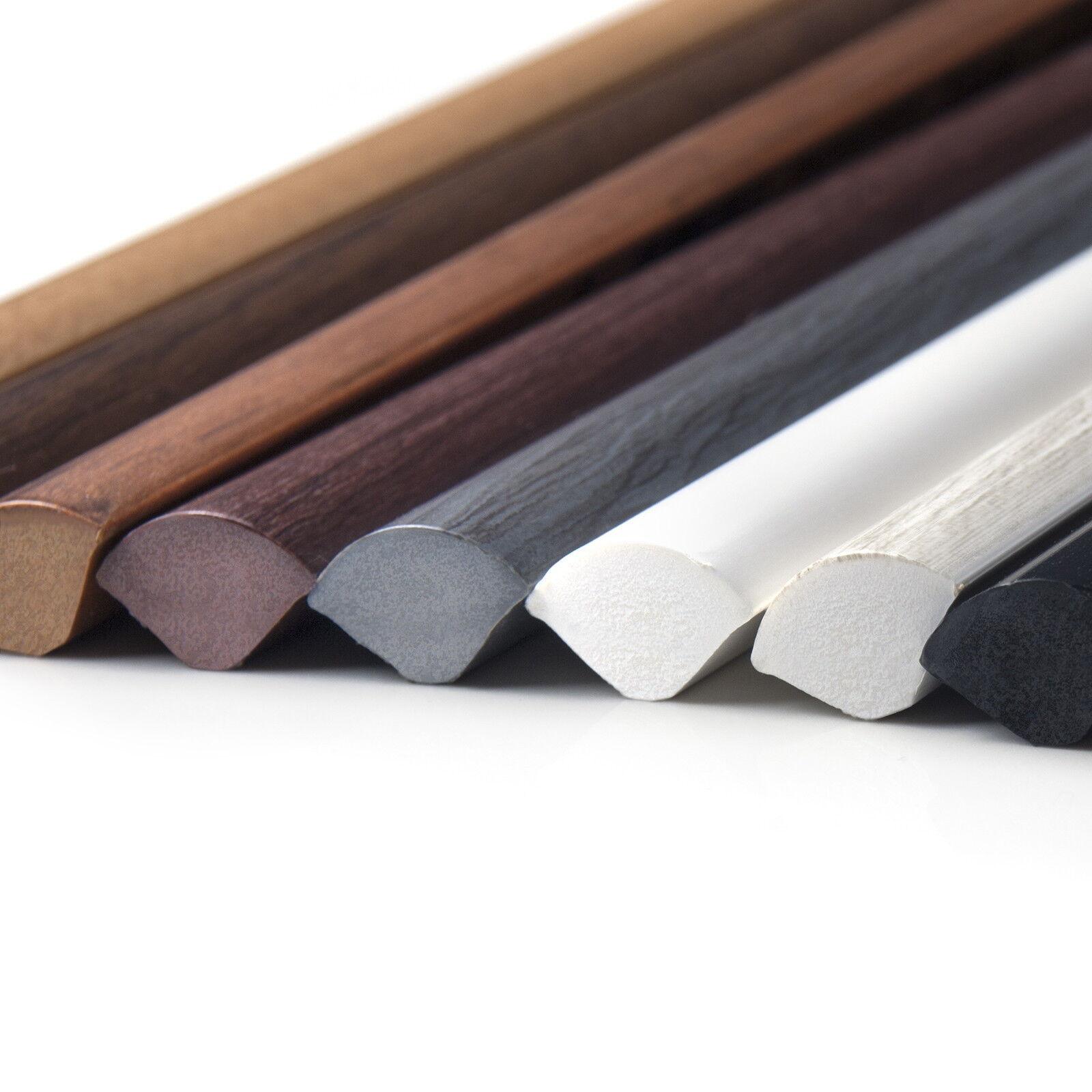 2.5m PVC QUARTER ROUND 13mm corner profile rod bar