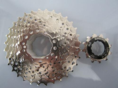 8 Speed 8S Mountain Bicycle MTB Bike Freewheel Cog 12-32T Nickel Plated Cassette