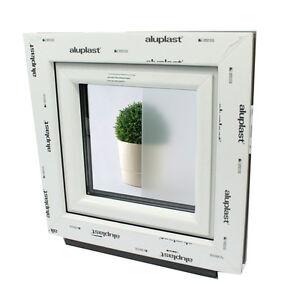 Finestre in pvc aluplast con vetro opaco per bagno apertura a vasistas ebay - Contatti magnetici per finestre vasistas ...