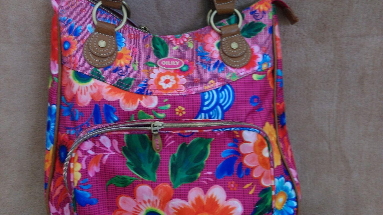 Damentasche,Oilily Henkeltasche,extravaganter Stil,gebraucht Stil,gebraucht Stil,gebraucht wie neu,34x34cm | Produktqualität  faa3c5