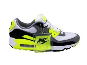 affordable price shop best cheap Nike Air Max 90 Baskets Blanc Gris Noir Jaune Fluo CD0881-103 | eBay